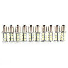 10X 12V 1156 BA15S 5050 18smd LED White Car RV Trailer Light Bulb 7503 1141 O54