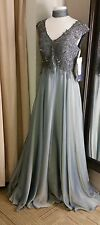 MONTAGE BY MON CHERI DARK AQUA MOTHER OF THE BRIDE GOWN SIZE 16 w/FREE SHIPPING