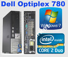 Dell 780 Core 2 Duo E8400 2x 3.0GHz 4GB 160GB Windows 7 pro PC Desktop Computer
