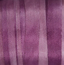 "7mm (1/4"") Variegated Silk Ribbon - 3 meters Lavender - Cardmaking Scrapbooking"