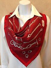 NEW 70cm CHAINES ET GOURMETTES vintage silk HERMES scarf 2008