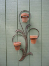 Vintage Blacksmith Art Hand Forged Decorative Garden Flower Plant Pot Holder