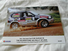 8 x 6 MOTORSPORT RALLY PRESS PHOTO - 2001 4x4 RALLY OF ASIA - SUZUKI VITARA