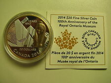 2014 Proof $20 100th Anniversary Royal Ontario Museum ROM Canada COIN&COA ONLY