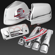 Chrome Side Door Handle+Rear Tailgate+Mirror Cover For 2007-13 TOYOTA TUNDRA  FM