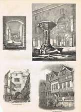 1854 black gate newcastle pant devant freemans hôpital old house chester
