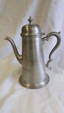 Vintage Jostens Lidded Pewter Coffee pot Pitcher Monogrammed with W