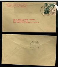 839 MEXICO Cover Sc 766 Var Without Point at Helm - PARACUARO Mich. to US 1941