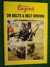 Stationary Engine On: Belts & Belt Driving BOOK MANUAL GUIDE STEAM ENGINE POWER