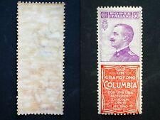 REGNO 1924-25 FRANCOBOLLO PUBBLICITARIO COLUMBIA MNH BUONA CENTRATURA