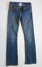 LA IDOL {Size 5} Junior's Bling Studded Fancy Stitching Bootcut Jeans DISCOUNT