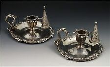 Important English Sterling Silver Chamber sticks London Circa 1840