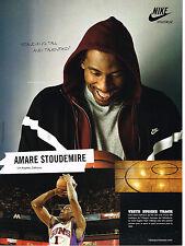 PUBLICITE ADVERTISING 094  2008  NIKE  veste EUGENE TRACK  AMARE STOUDEMIRE  L.A