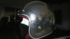 OPEN FACE VINTAGE MOTORCYCLE SCOOTER HELMET SIZE S