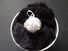 Sterling silver year 2000 ad world globe charm / pendant by Amalco