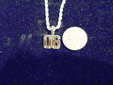 bling silver plated sport didget number 00 pendant charm chain hip hop necklace