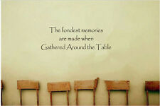 The Fondest Memories Are Made When Gathered Around The Table Vinyl Wall Quote
