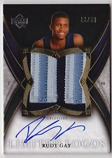 2006-07 Exquisite RUDY GAY Limited Logos Auto Patch RC Rookie Card #d 50