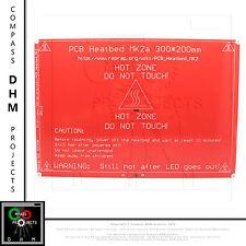 PIATTO RISCALDATO 20*30 PCB heated MK2a 300x200 3d printer reprap