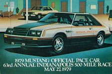 vintage 1979 Ford MUSTANG PACE CAR Post Card PostCard