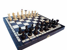 """AMAZING """"PEARL SUPREME"""" WOODEN CHESS SET 35 x 35 cm.BURNT DESIGN ON EVERY PIECE!"""