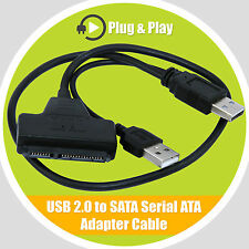 "Cable USB 2.5"" a Sata HDD Adaptador Serial Ata Plomo Para PC Laptop Disco Duro"