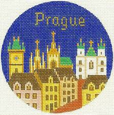 Silver Needle Prague, Czech. Republic handpainted Needlepoint Canvas Ornament