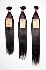 16 18 20 inches Straight Hair Weave Extension 3 pack Bundle Black New Free Shipp