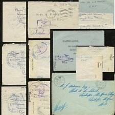 MILITARY RAF WW2 1939-44 OAS...AIR FORCE CENSORS...9 COVERS