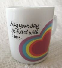 """VTG 1983 Easter-Avon Love Mug-""""May Your Day Be Filled With Love""""- Rainbow Hearts"""