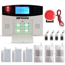 Zoneway Wireless GSM SMS Home Burglar Security Alarm System IR Detector Sensor