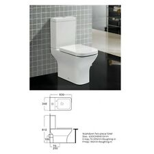 Square White Close Coupled BTW Toilet Pan Cistern  COMFORT HEIGHT 480MM 2125