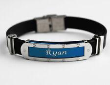 Silicone Nom Bracelet 'Ryan'   Fête des Pères   Cadeaux pour les hommes