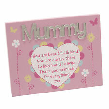 Mummy Plaque with Stand Lovely Mirror Words & Verse by Juliana Mother's Day Gift