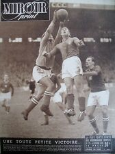 FOOTBALL FRANCE TCHECOSLOVAQUIE BOXE VILLEMAIN RAADIK N° 179 MIROIR SPRINT 1949