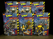 1997 TOYBIZ X-MEN ROBOT FIGHTERS 6 FIGURE SET STORM VARIANT GAMBIT WOLVERINE D37