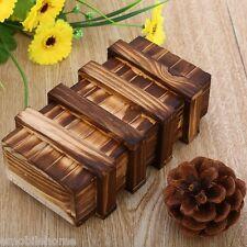 Intelligent Magic Vintage Wooden Secret Box Compartment Brain Teaser Puzzle Toy