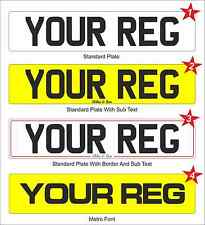 Road Legal Number Plate Car With Border Or Sub Text Any Name Or Logo