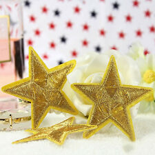 Best Golden STAR embroidered Applique Iron on Patch Badge Motif DIY Sewing 5cm