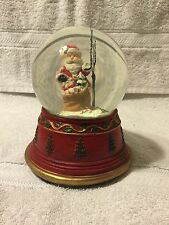 SANTA CLAUSE Musical Snow Water Globe-Plays We Wish You A Merry Christmas