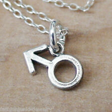 Tiny Male Symbol Necklace - 925 Sterling Silver - Charm Man Male NEW