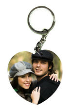 Personalized Acrylic Heart Shape Keychain, Customize with Photo Printing