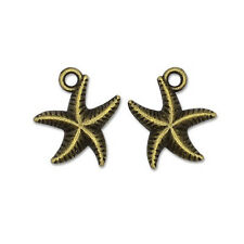 50+ Steampunk Antique Bronze Tibetan 16mm Charms Pendants (Starfish) ZX15765