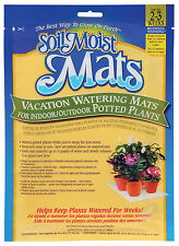 SoilMoist 2-Pack Vacation Plant Mats Watering for Indoor Outdoor Potted Plants
