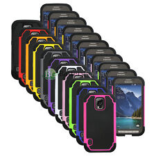Lot of 11 Hybrid Rugged Rubber Hard Case Cover for Samsung Galaxy S5 GS5 Active