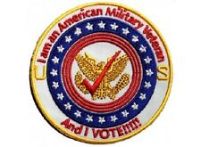 MILITARY VETERAN AND I VOTE EMBROIDERED BIKER PATCH