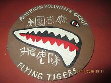WWII USAAF AVG FLYING TIGER SHARK MOUTH RIGHT FACING   FLIGHT JACKET   PATCH