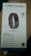 Fitbit Charge 2 Heart Rate + Fitness Wristband, PLUM, Large