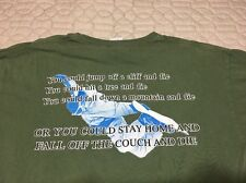 Men's L Get Off The Couch Ride Sugar Mtn Snow Board T Shirt