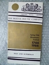 1966 Theatre Programme Man and Superman- B Shaw (Bicentenary Festival Programme)